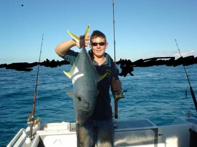 Dampier Offshore Fishing for Golden Trevally