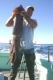 Fishing for Giant Humboldt Squid - Cordell Bank: Giant Humboldt Squid: A happy angler on the Giant Humboldt Squid Trip Bodega Bay 2006 - photo Bob Fisher. SportfishWorld &copy Bob Fisher
