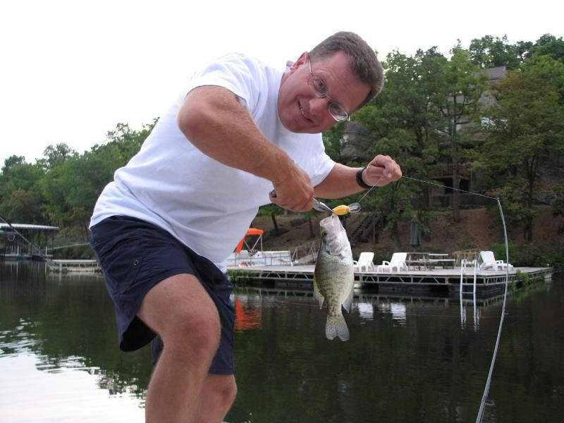 Fishing in Missouri, Fishing Photos,   Crappie, Crappie caught at Lake Ozark, Missouri. Tim McDaniel SportfishWorld Photo.