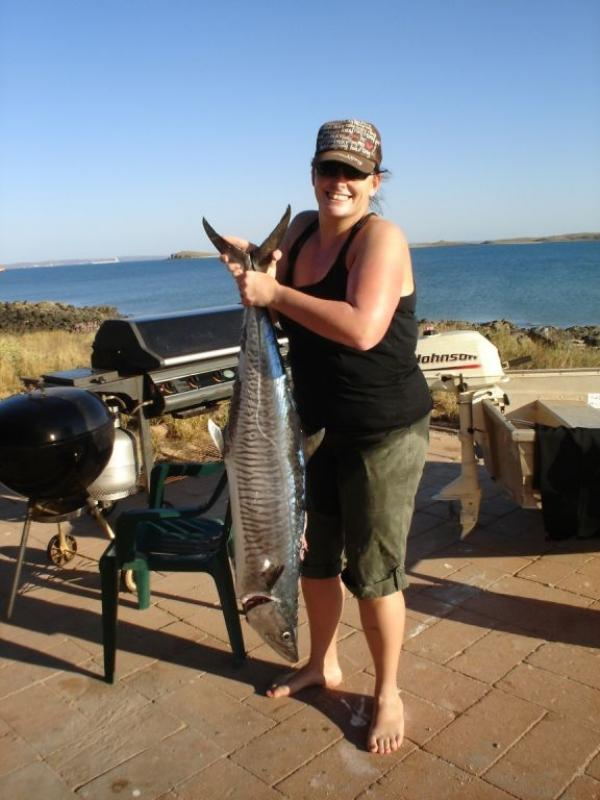 Mackeral, Spanish - After a good 10 minute fight, this 18KG fatty was