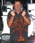 Lobster, Southern Rock: My biggest Southern Cray, December 2007. Russell Stone, Esperance, Western Australia.