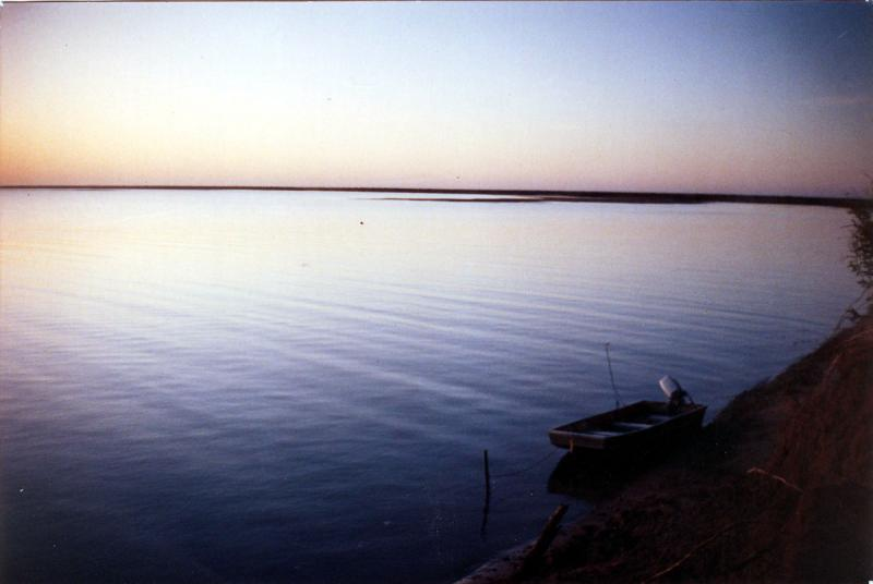 Australia, Panorama, Australian Fishing Panorama, Sunrise at mystery landing De Grey River