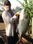 Trevally, Giant: Giant Trevally caught at the Spoil Bank, Port Hedland. James Pearce. James Pearce's fishing photos. &COPY SportfishWorld