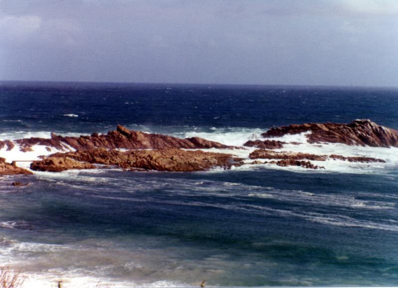 Australia, Panorama,  Australian Panorama, Canal Rocks in the South West corner of Western Australia in the early 1980's. Bob Fisher Photo SportfishWorld Copyright.