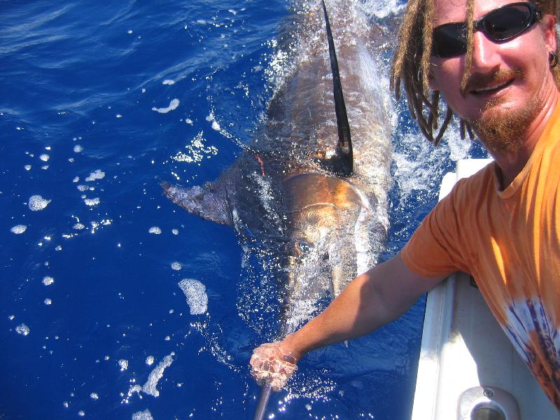 WORLDWIDE SPORTFISHING PHOTOS, Australia,  Blue Marlin, A 100kg Blue Marlin released off Exmouth. Ian Huxter